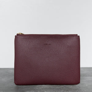 Zuri Travel Pouch - Bordeaux [Sample Sale]