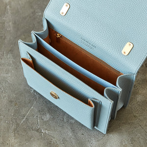 Eloise Satchel - Light Nude Blue [Sample Sale]
