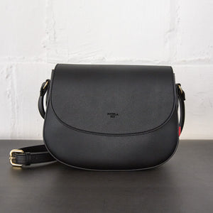 Florence Saddle Crossbody [Signet] - Black