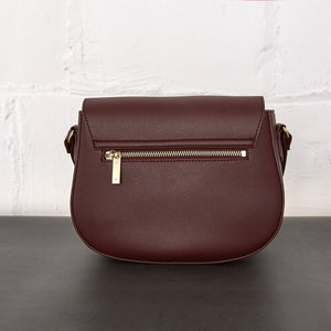 Florence Saddle Crossbody [Signet] - Bordeaux [Sample Sale]