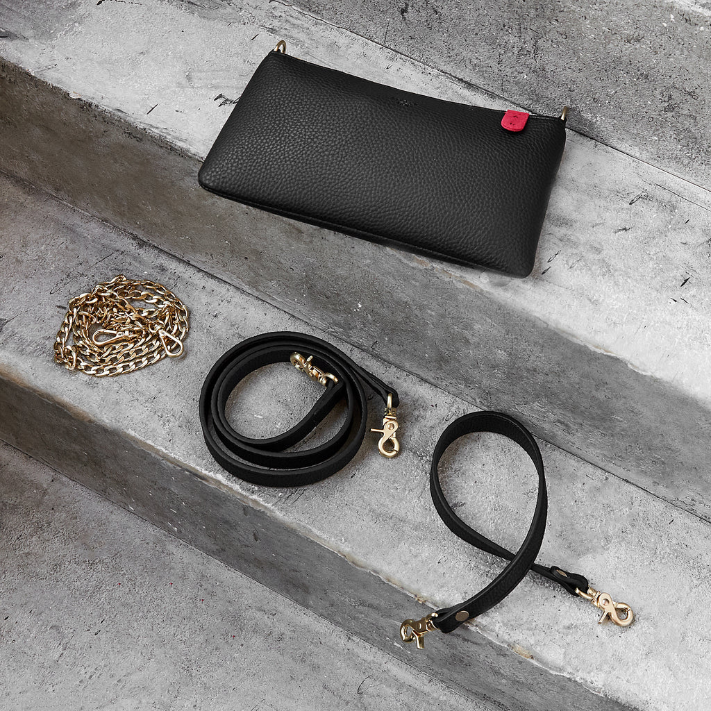 Zuri Multifunction Pouch [Signet] - Black [Sample Sale]
