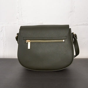 Florence Saddle Crossbody [Signet] - Dark Green