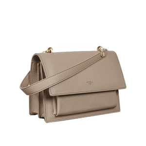 Eloise Satchel [Signet] - Light Mud Gray