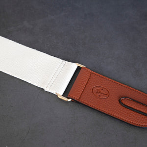 Webbing Strap - Ivory / Brown