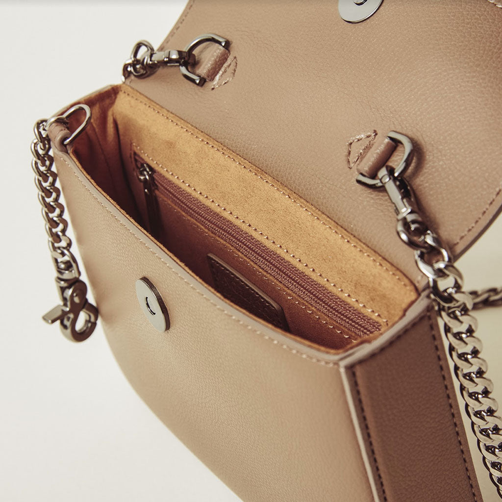 Hamilton Mini Chain Cross-body - Mud Beige