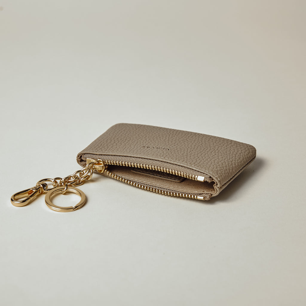 Zuri Card Pouch - Light Mud Gray [Sample Sale]