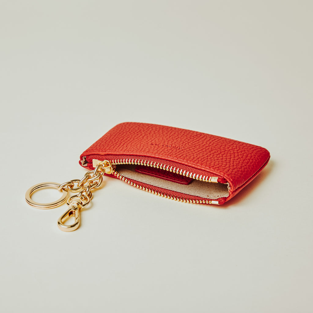 Zuri Card Pouch - Red [Sample Sale]