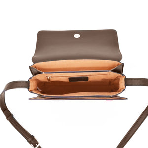 Hamilton Crossbody [Signet] - Dark Ash Brown