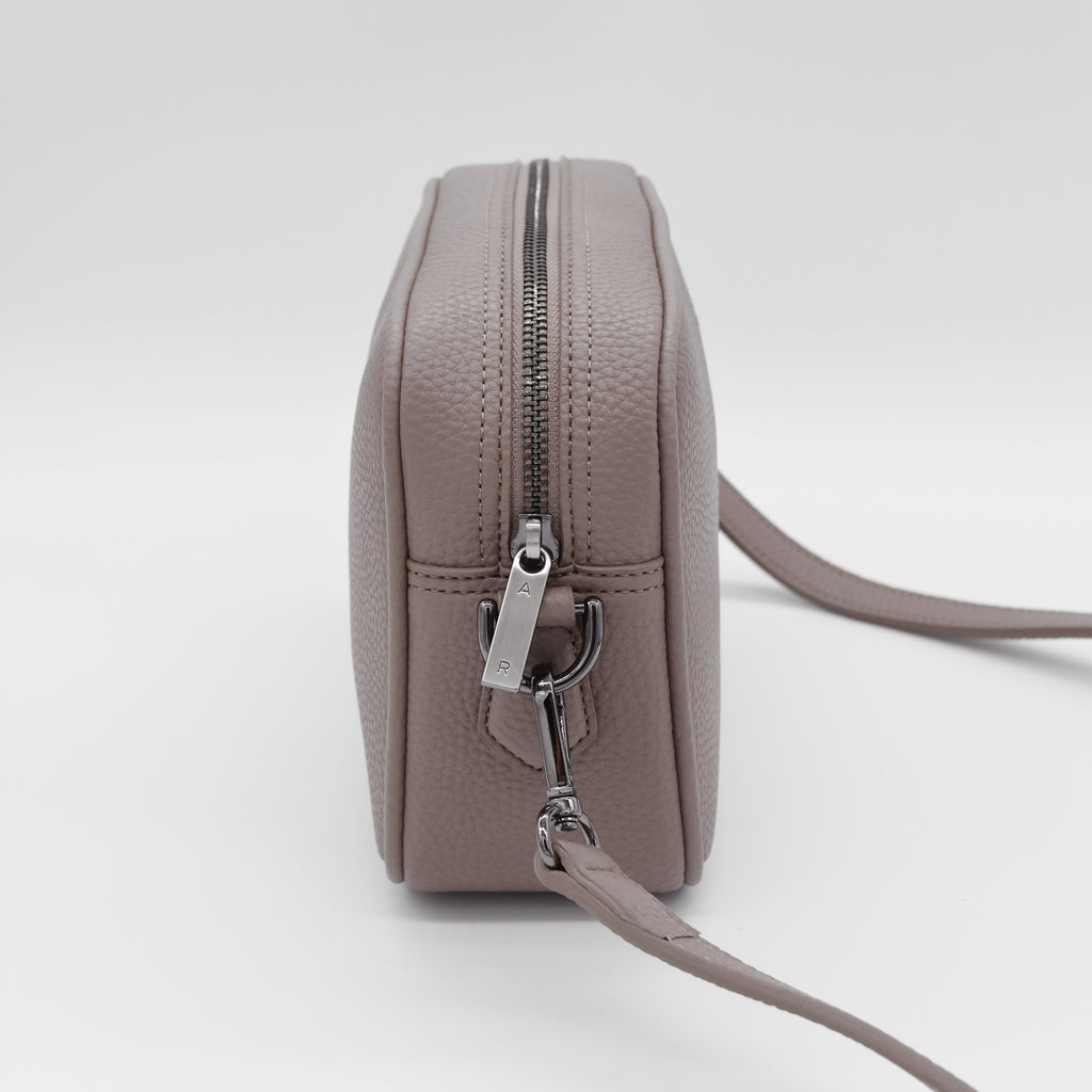Grace Mini Crossbody [Signet] - Light Mud Gray