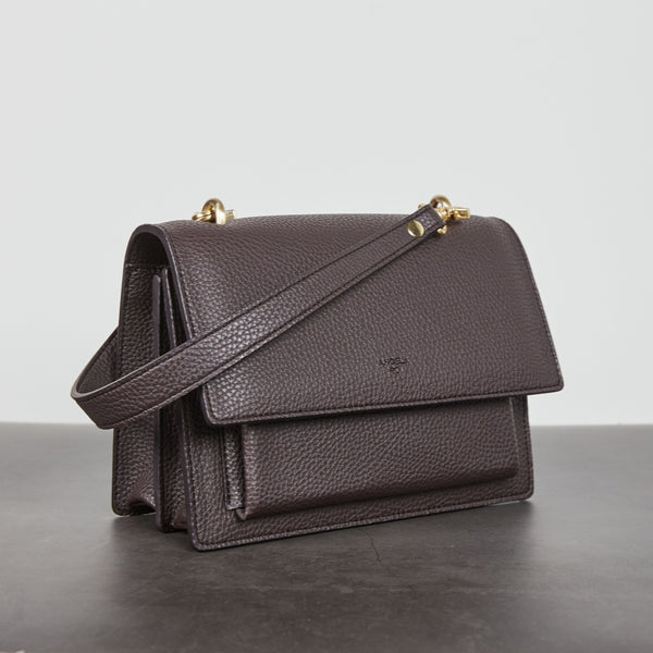 Eloise Satchel [Signet] - Dark Brown