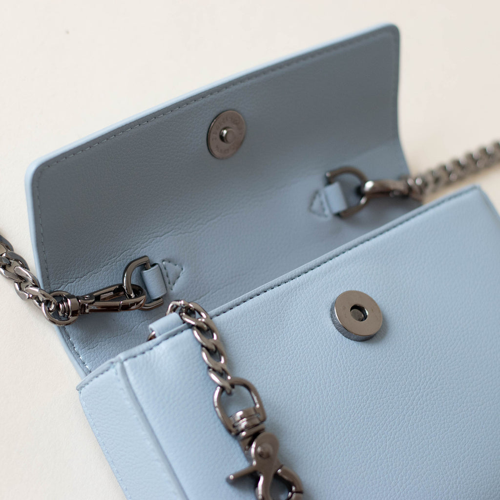 Hamilton Mini Chain Cross-body - Light Nude Blue