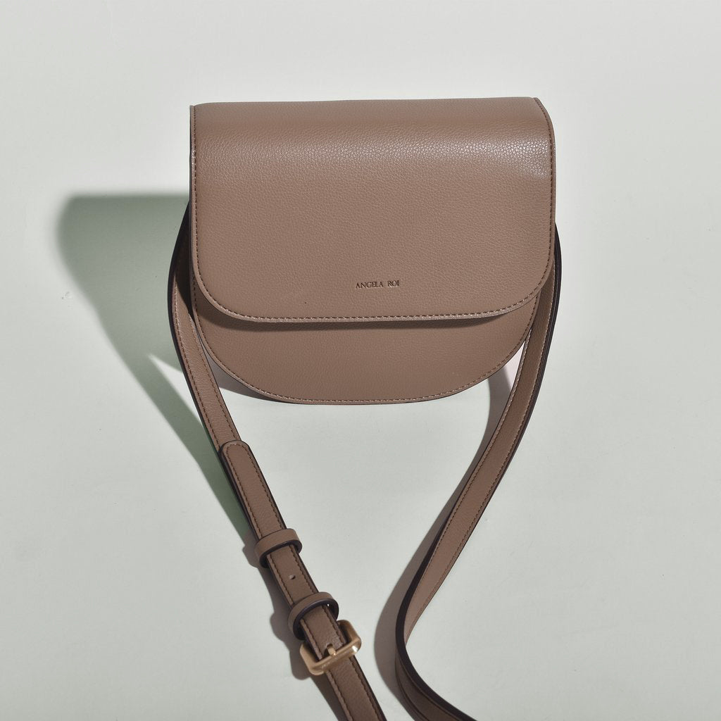 Hamilton Round Cross-body - Mud Beige [Sample Sale]