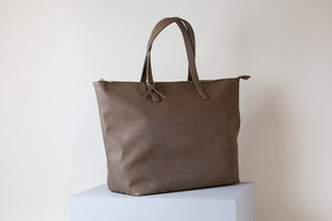 Andrea Oversized Tote - Mud Gray