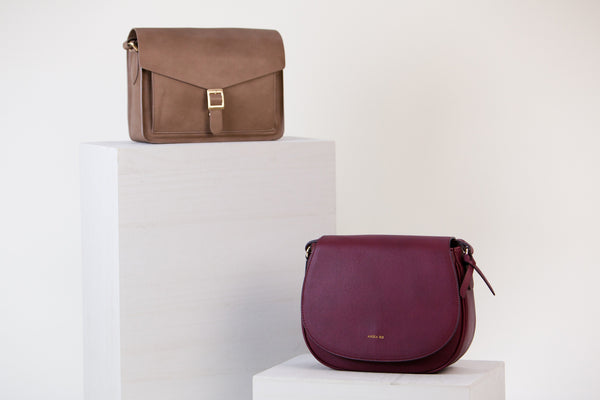 [Bundle] Morning Cross-body Bordeaux + Anya Cross-body Mud Gray