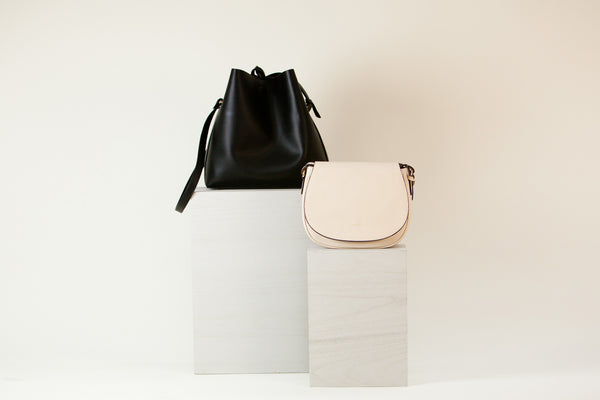 [Bundle] Jules Bucket Black + Morning Cross-body Ivory
