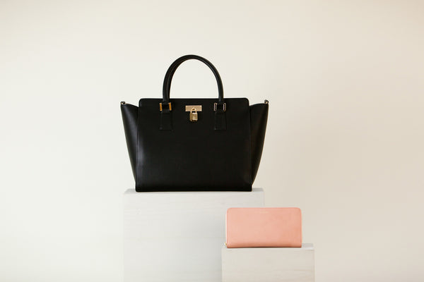 [Bundle] Sunday Tote Black + Olivia Z Wallet Dusty Rose