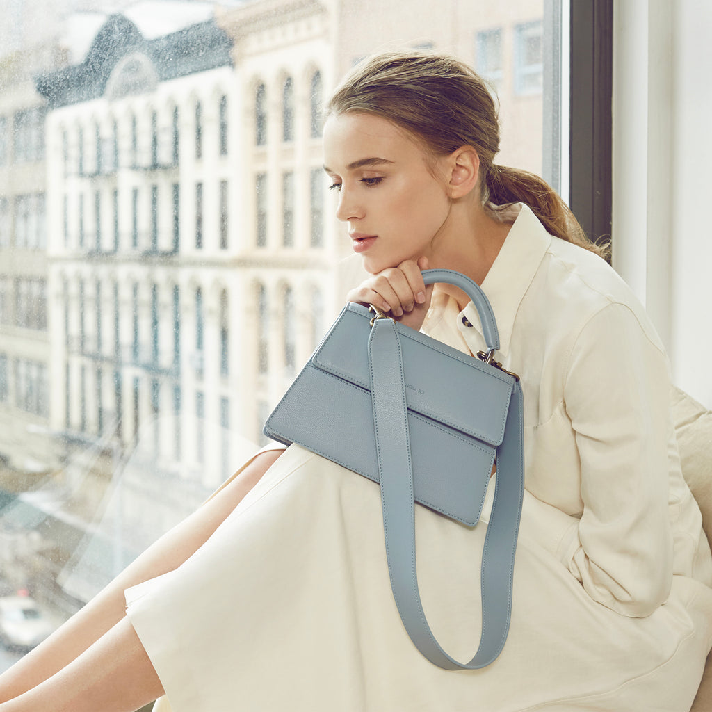 Hamilton Satchel - Light Nude Blue