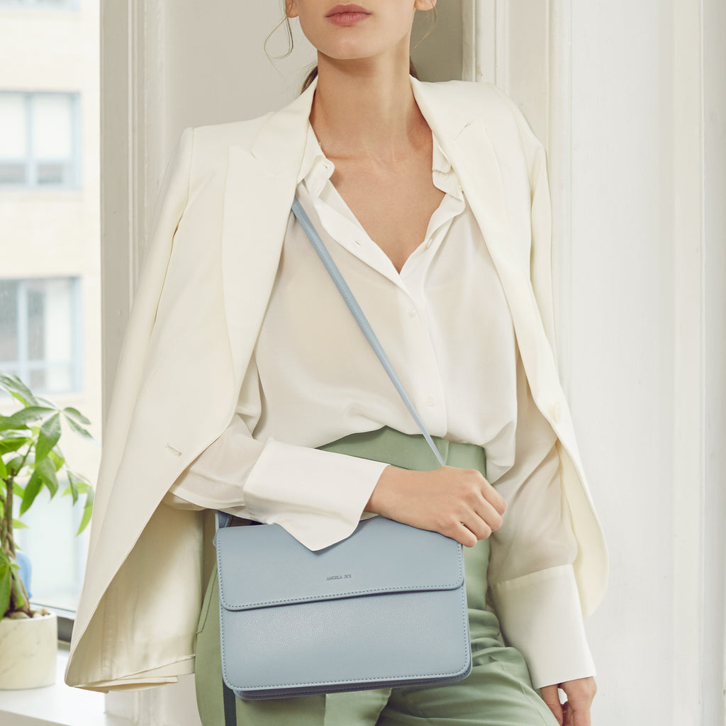 Hamilton Cross-body - Light Nude Blue