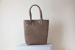 Andrea Tall Tote - Mud Gray