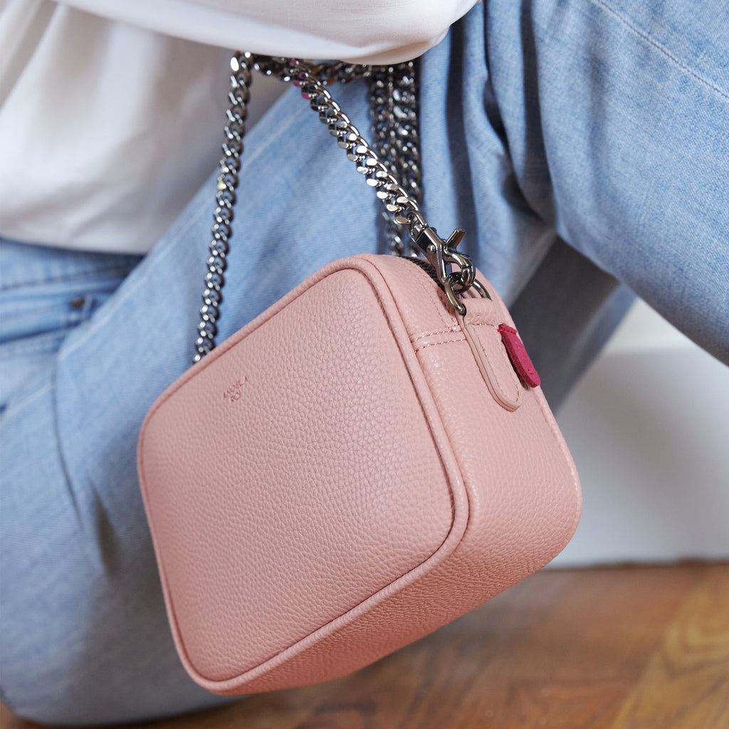 Grace Micro Crossbody [Signet] - Coral Pink