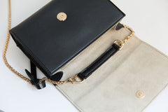V Chain Cross-Body - Black (Sample Sale)