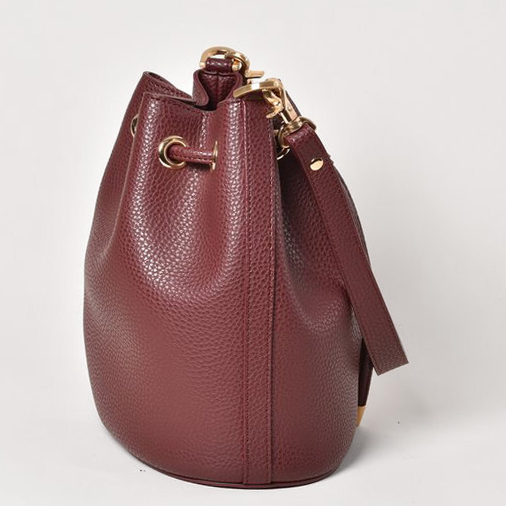 Madeline Mini Bucket - Bordeaux