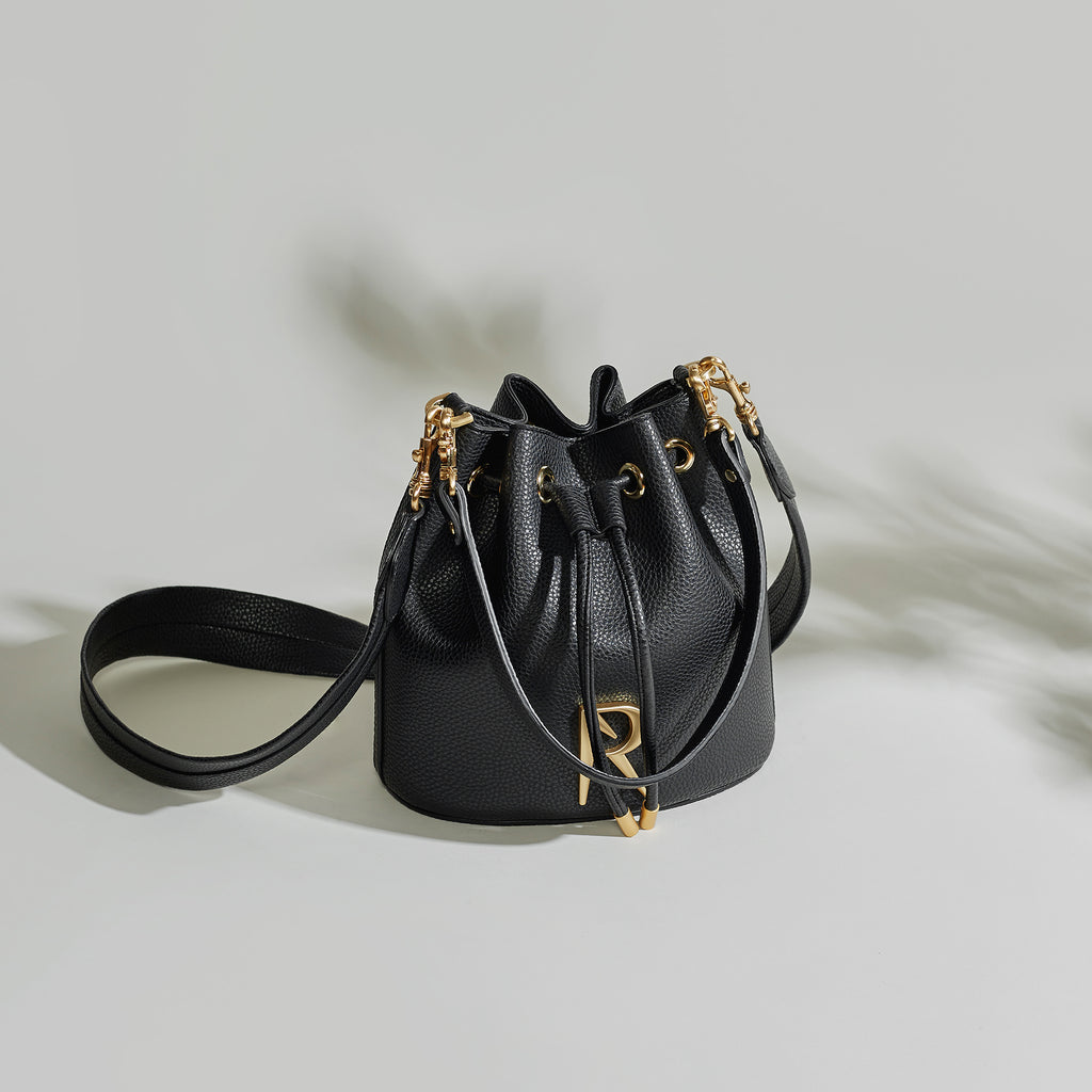 Madeline Mini Bucket - Black [AR Hardware Logo] [Sample Sale]