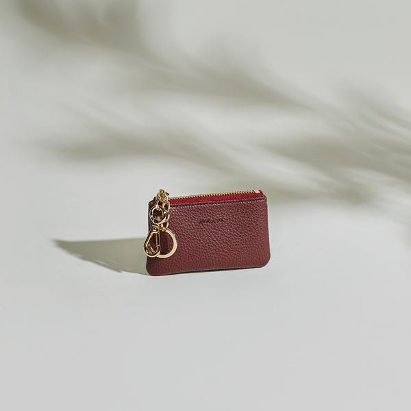 Zuri Card Pouch - Bordeaux