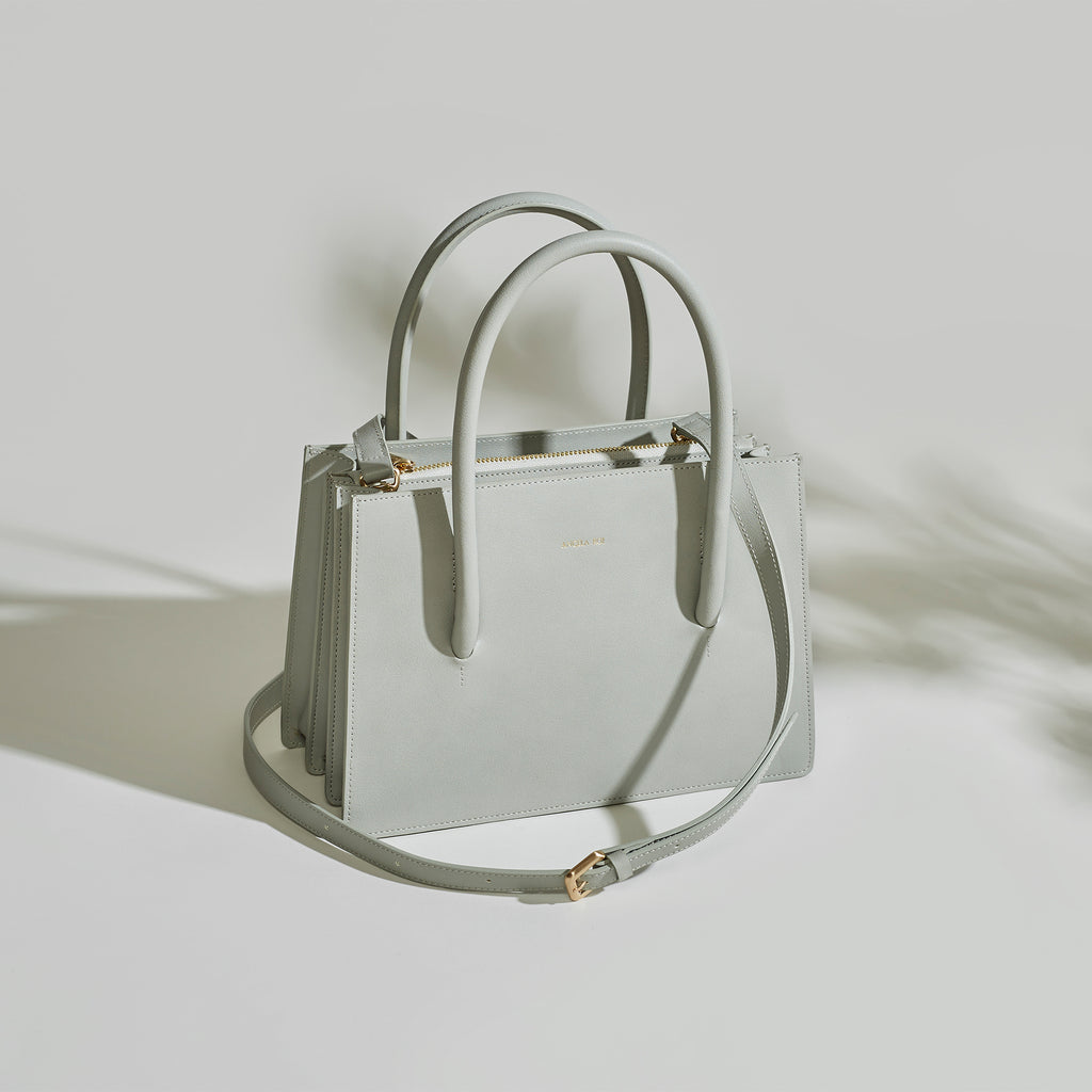 Eleanor Satchel - Light Gray [Sample Sale]