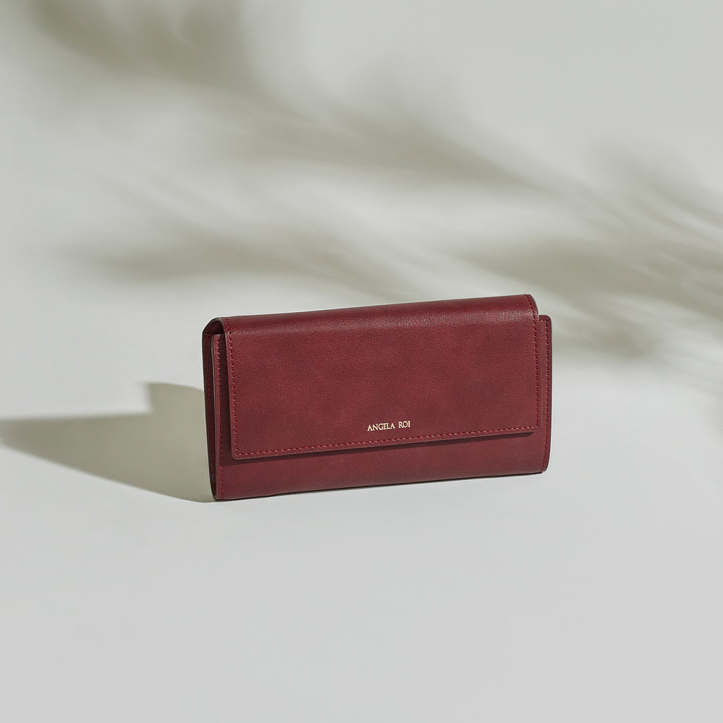 Olivia E Wallet - Bordeaux [Sample Sale]
