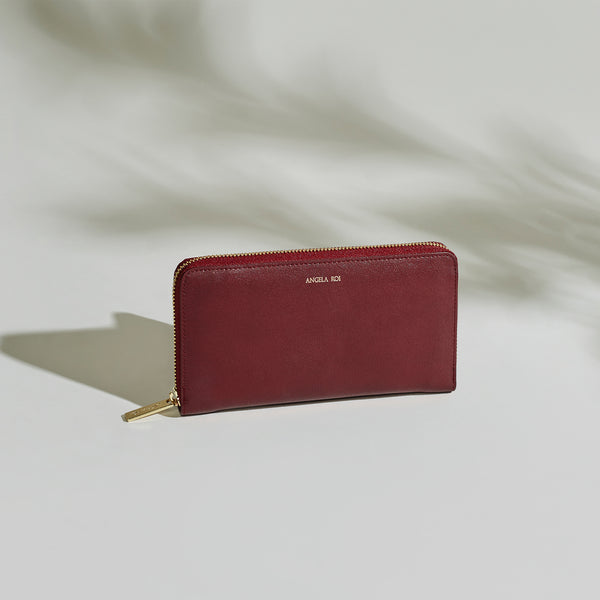 Olivia Z Wallet - Bordeaux