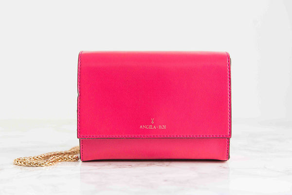 V Chain Cross-Body - Pink