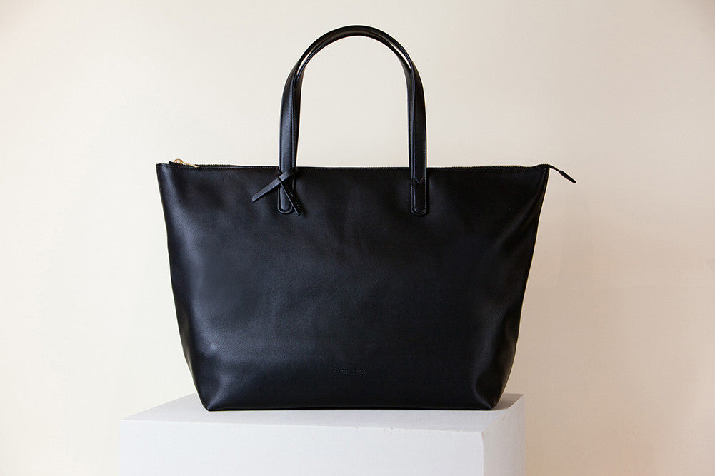 Andrea Oversized Tote - Black