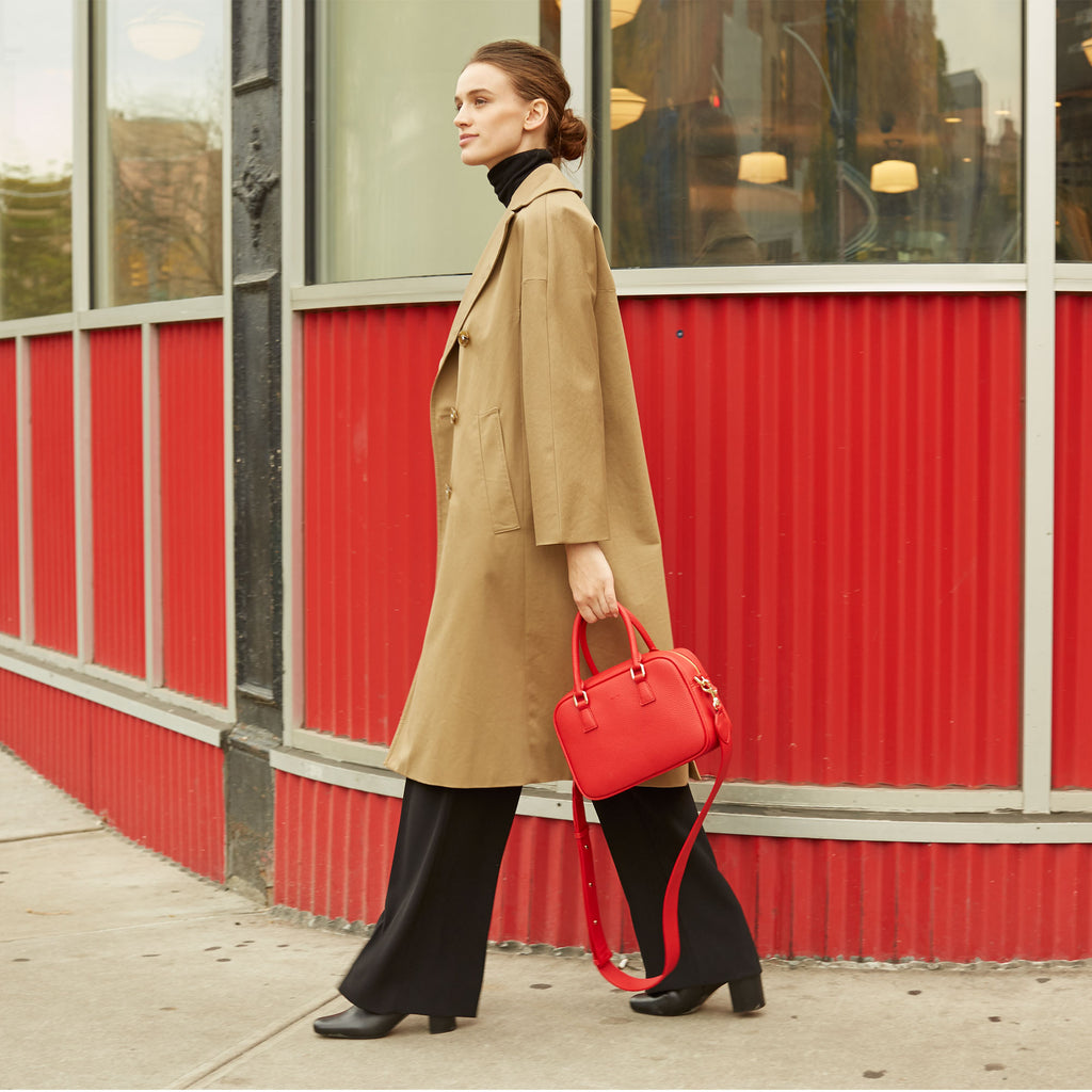 Barton Duffle Tote - Red [Sample Sale]