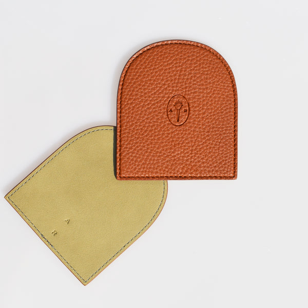 AR Coaster Set - Caramel / Light Olive