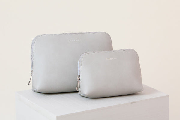 Elle Cosmetic Case Set - Light Gray