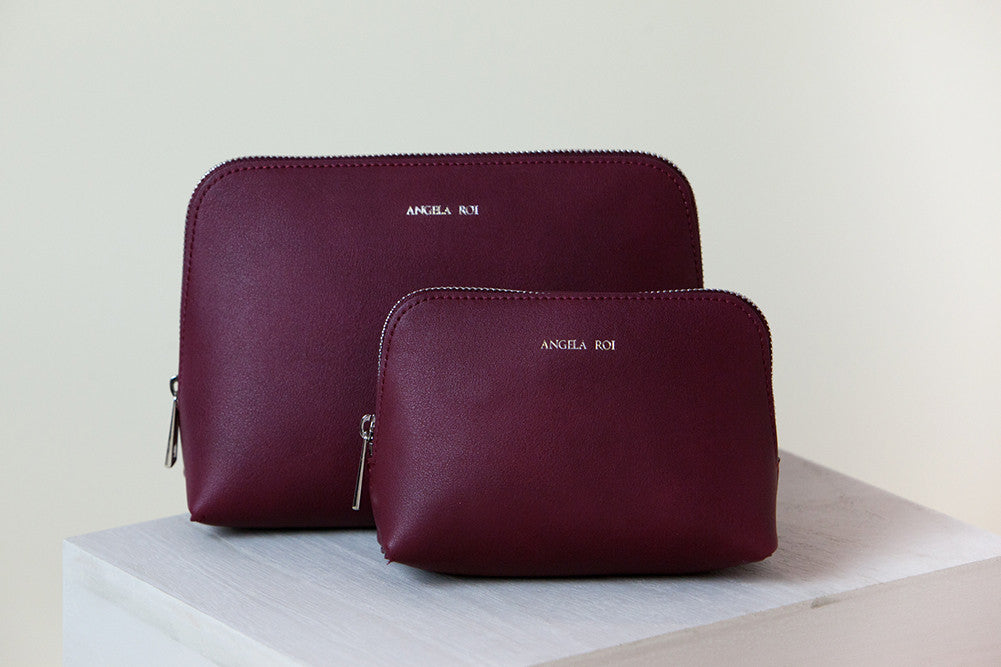 Elle Cosmetic Case Set - Bordeaux