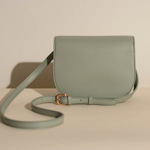 Hamilton Round Cross-body - Nude Emerald