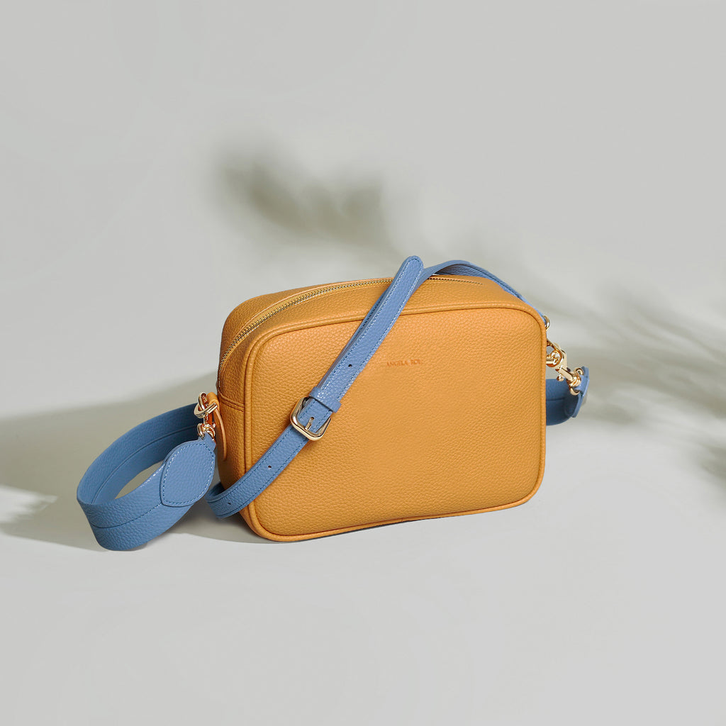 Grace Cross-body - Mustard / Nude Blue