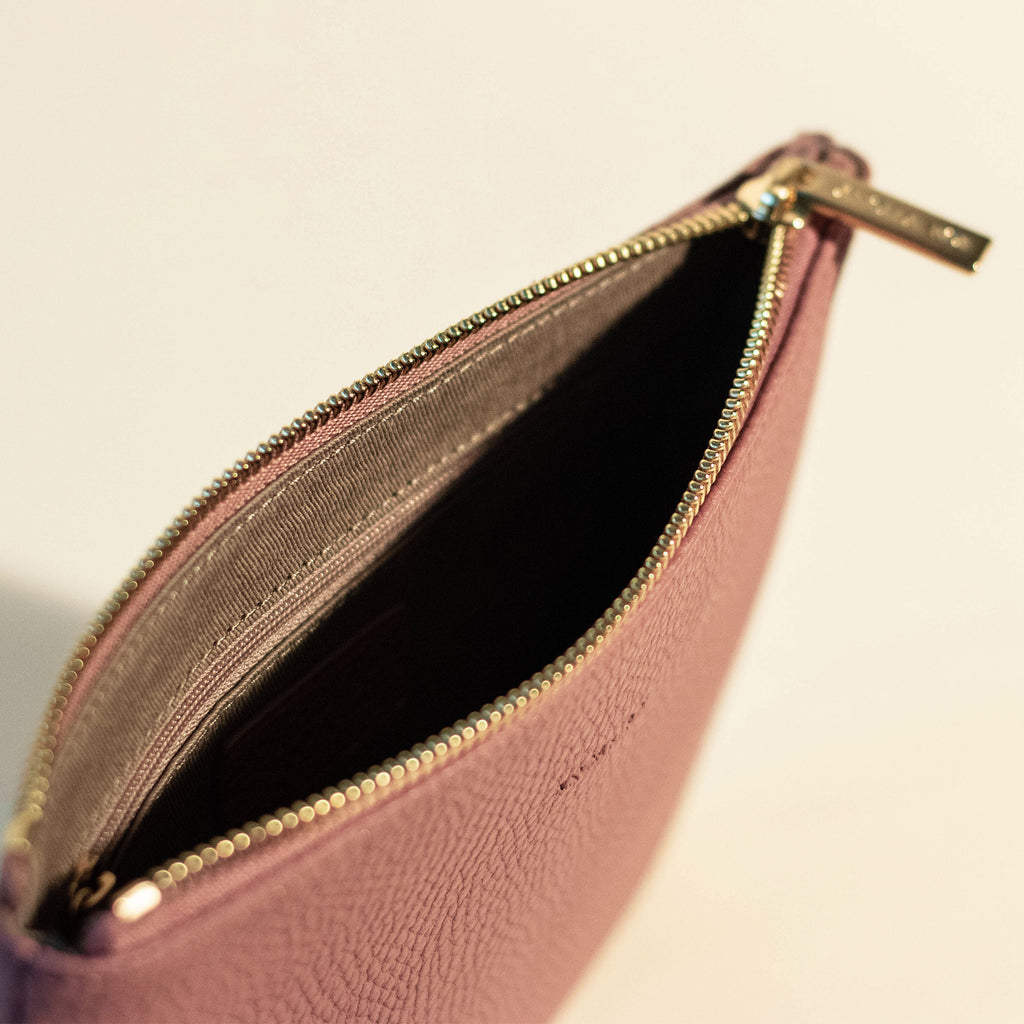 Zuri Travel Pouch - Nude Pink [Sample Sale]