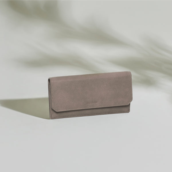 Olivia Slim Wallet - Taupe Gray