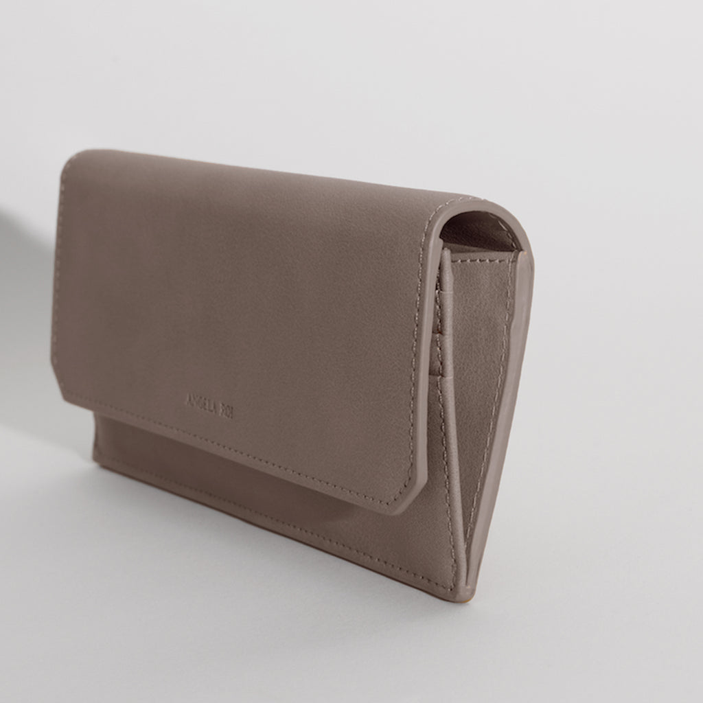 Olivia Slim Wallet - Taupe Gray [Sample Sale]