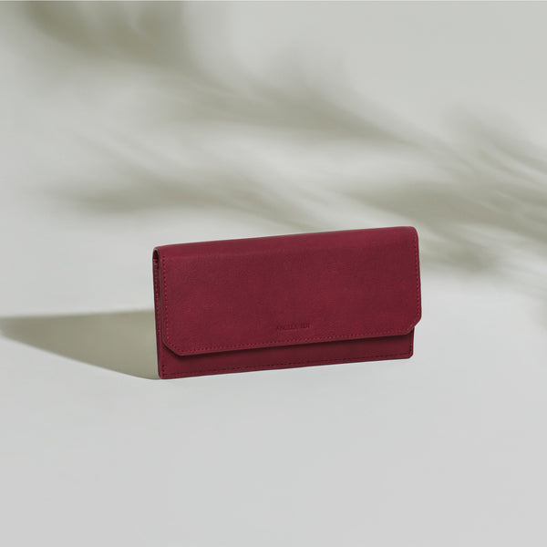 Olivia Slim Wallet - Wine