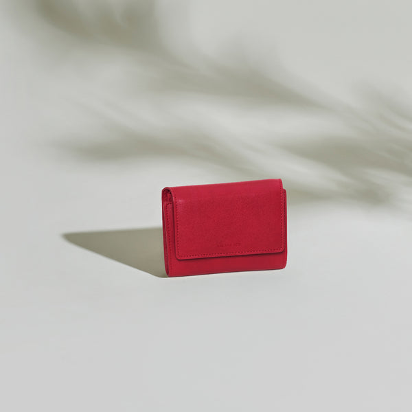 Olivia Compact Wallet - Scarlet