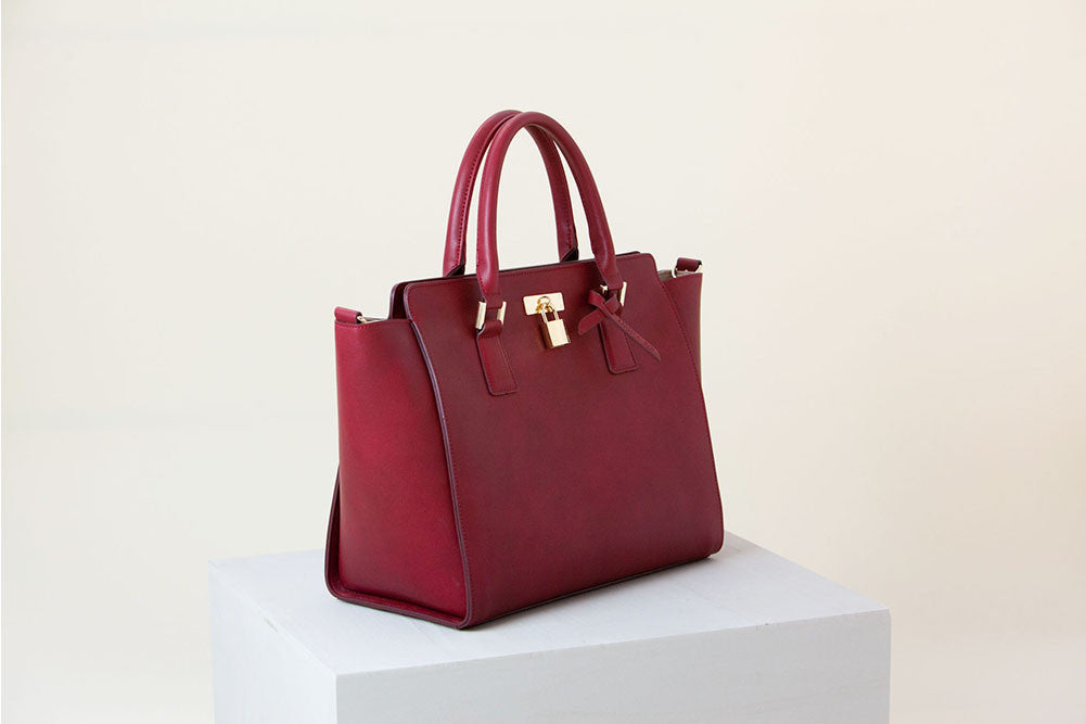 Sunday Tote II - Wine (Sample Sale)