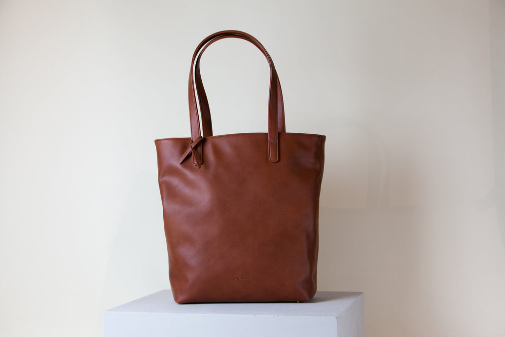 Andrea Tall Tote - Orange Brown