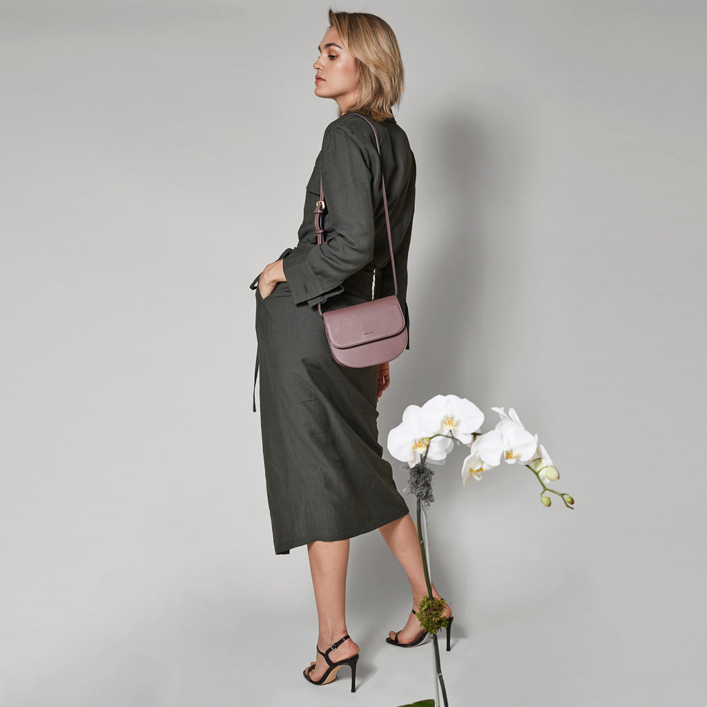 Hamilton Round Cross-body - Ash Rose [Sample Sale]