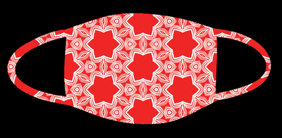 64. Red Pattern Mask