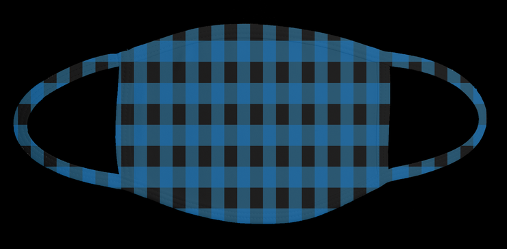 8. Blue and black Plaid Mask