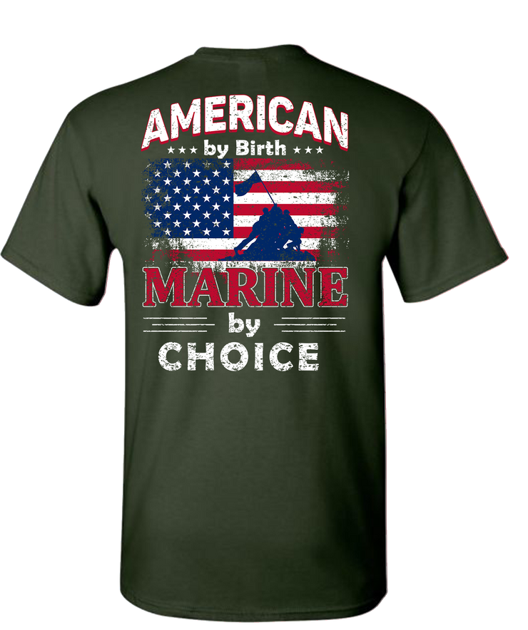 American By Birth Short Sleeve T-Shirt - Forest Green